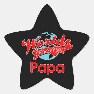 World's Greatest Papa Star Sticker