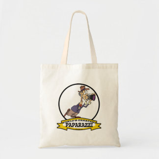 WORLDS GREATEST PAPARAZZI II MEN CARTOON TOTE BAG