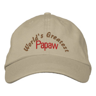 World's Greatest Papaw Embroidered Baseball Cap