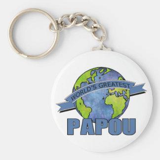 World's Greatest Papou Keychain