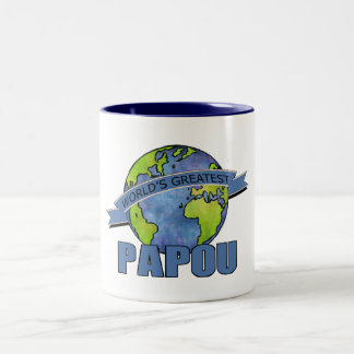 World's Greatest Papou Two-Tone Coffee Mug