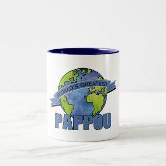 World's Greatest Pappou Two-Tone Coffee Mug