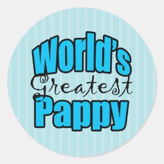 Worlds Greatest Pappy Classic Round Sticker