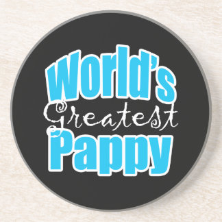 Worlds Greatest Pappy Sandstone Coaster