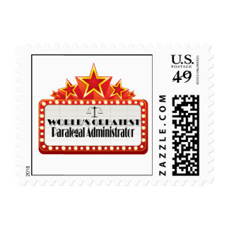 World's Greatest Paralegal Administrator Stamp