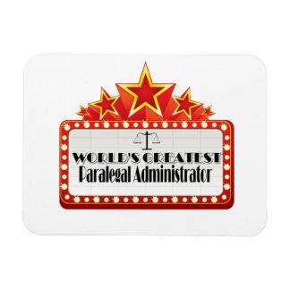 World's Greatest Paralegal Administrator Rectangular Photo Magnet