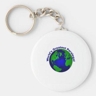 World's Greatest Paralegal Basic Round Button Keychain