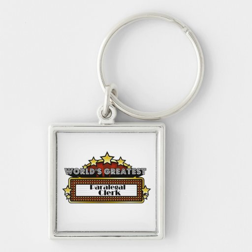 World's Greatest Paralegal Clerk Key Chains