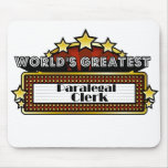 World's Greatest Paralegal Clerk Mouse Pad