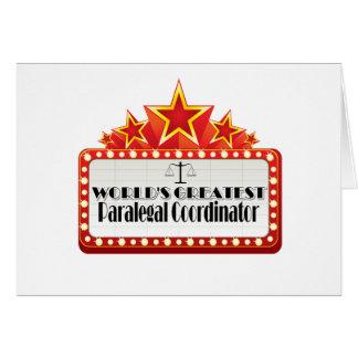World's Greatest Paralegal Coordinator Card