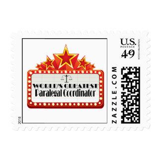 World's Greatest Paralegal Coordinator Postage Stamp