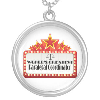 World's Greatest Paralegal Coordinator Round Pendant Necklace