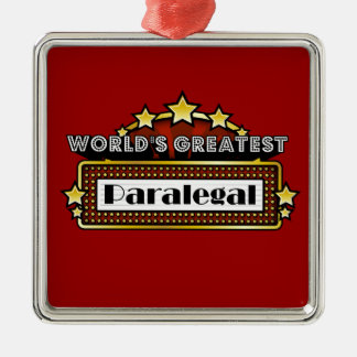 World's Greatest Paralegal Metal Ornament