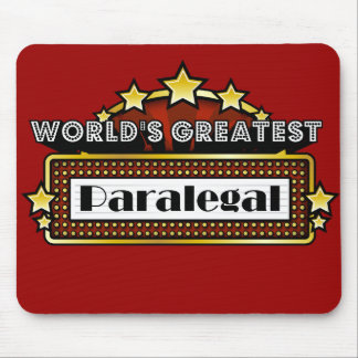 World's Greatest Paralegal Mouse Pad
