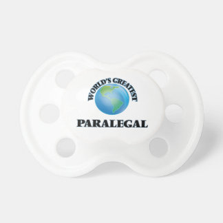 World's Greatest Paralegal Baby Pacifier