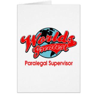 World's Greatest Paralegal Supervisor Card