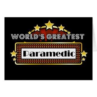 World's Greatest Paramedic Card