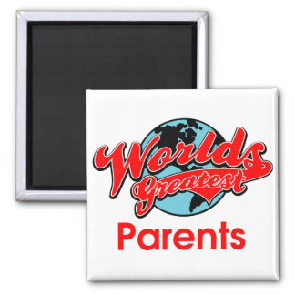 World's Greatest Parents 2 Inch Square Magnet