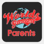 World's Greatest Parents Square Sticker