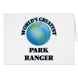 World's Greatest Park Ranger Greeting Cards