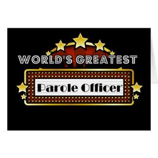 World's Greatest Parole Officer Card