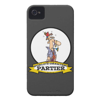 WORLDS GREATEST PARTIER CARTOON Case-Mate iPhone 4 CASE