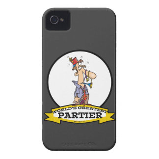 WORLDS GREATEST PARTIER CARTOON iPhone 4 Case-Mate CASES