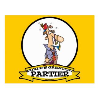 WORLDS GREATEST PARTIER CARTOON POSTCARD