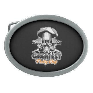 World's Greatest Pastry Chef v4 Oval Belt Buckle