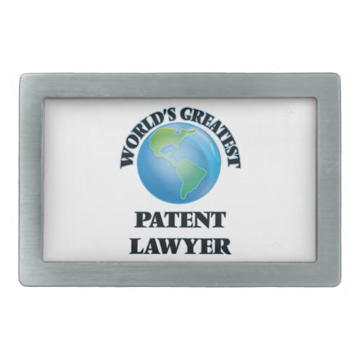 World's Greatest Patent Lawyer Rectangular Belt Buckles