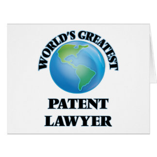 World's Greatest Patent Lawyer Card
