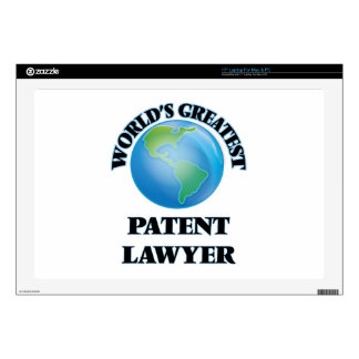 """World's Greatest Patent Lawyer Decal For 17"""" Laptop"""
