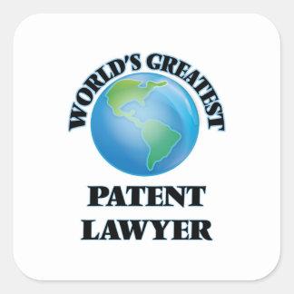 World's Greatest Patent Lawyer Square Sticker