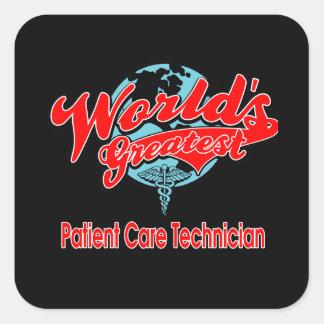 World's Greatest Patient Care Technician Square Sticker