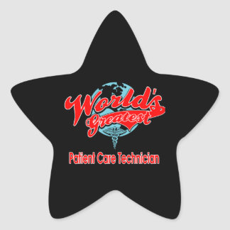 World's Greatest Patient Care Technician Star Sticker