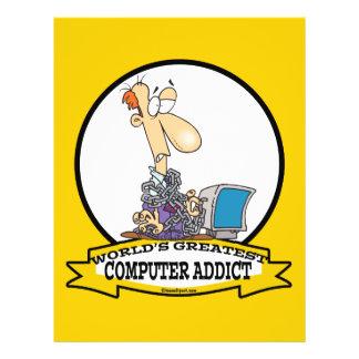 WORLDS GREATEST PC COMPUTER ADDICT CARTOON CUSTOM FLYER