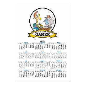 WORLDS GREATEST PC GAMER TEEN CARTOON BUSINESS CARD TEMPLATE