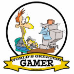 WORLDS GREATEST PC GAMER TEEN CARTOON CUT OUT