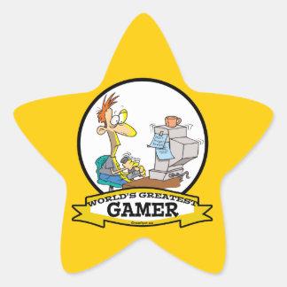 WORLDS GREATEST PC GAMER TEEN CARTOON STAR STICKER