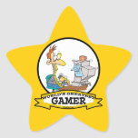 WORLDS GREATEST PC GAMER TEEN CARTOON STAR STICKERS