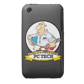 WORLDS GREATEST PC TECH MEN CARTOON Case-Mate iPhone 3 CASES