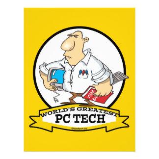"""WORLDS GREATEST PC TECH MEN CARTOON 8.5"""" X 11"""" FLYER"""