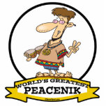 WORLDS GREATEST PEACENIK CARTOON ACRYLIC CUT OUTS