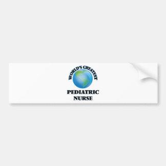 World's Greatest Pediatric Nurse Bumper Stickers