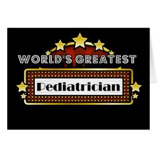 World's Greatest Pediatrician Card