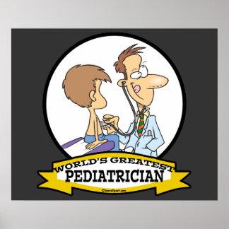 WORLDS GREATEST PEDIATRICIAN MEN CARTOON POSTER