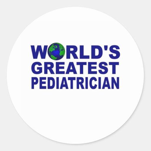 World's Greatest Pediatrician Classic Round Sticker