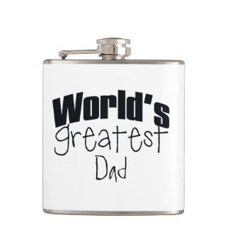 Worlds Greatest Personalized Hip Flask