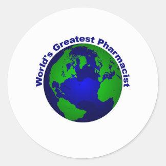 World's Greatest Pharmacist Classic Round Sticker