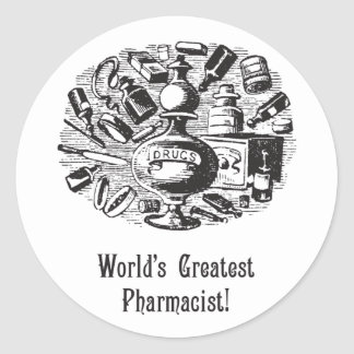 World's Greatest Pharmacist Stickers